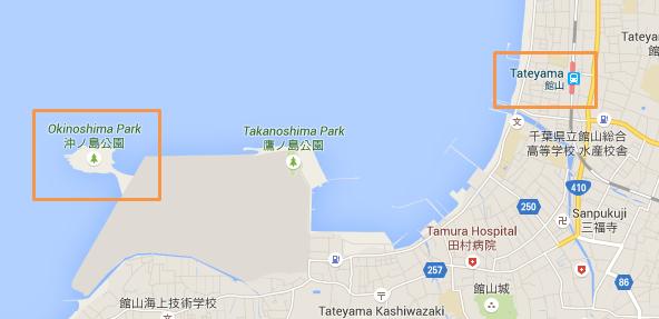 館山駅から沖ノ島