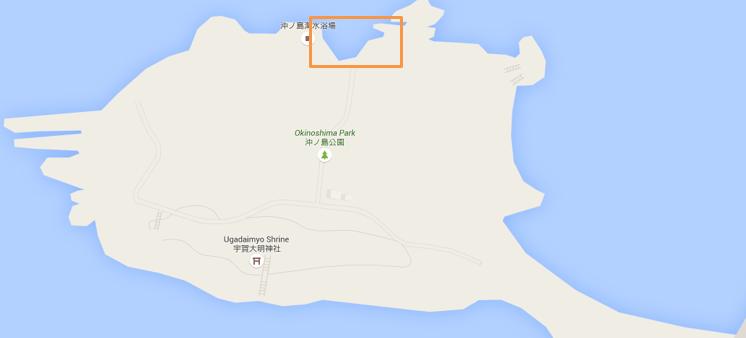沖ノ島のシュノーケリングポイント
