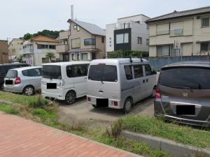 三浦海岸の駐車場