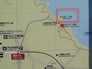 大淀小淀への詳細地図