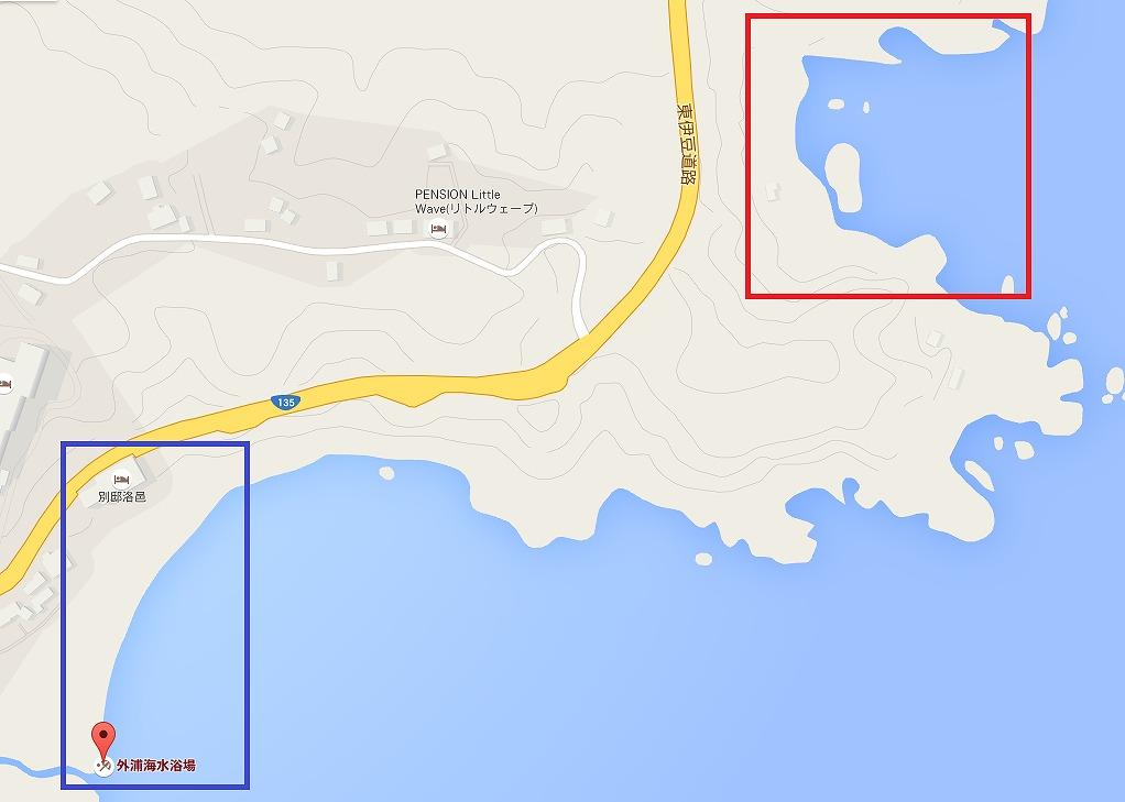 外浦海岸のシュノーケリングポイント