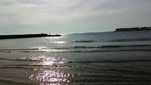 一色海岸の海夕方