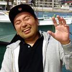 東京でシュノーケルするサラリーマン