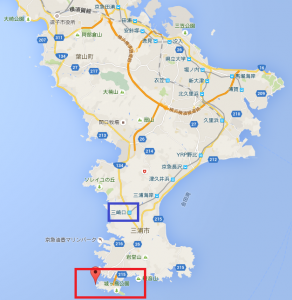 城ヶ島のマップ